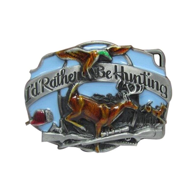 Mens Luxury Brand Designer Cowboys Belt Buckle Meatl Hunting Eagle Sika deer Buckles DIY Belt New Year Gifts Christmas gift