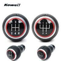 KOWELL 5 Speed MT Gear Shift Knob Car Gear Shifter Lever Stick Headball Knob Ball for Audi A4 S4 B8 8K A5 8T Q5 8R S Line 07 15