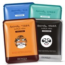 BIOAQUA 1 قطعة العناية بالبشرة الأغنام/الباندا/الكلب/النمر قناع الوجه ترطيب لطيف الحيوان أقنعة الوجه