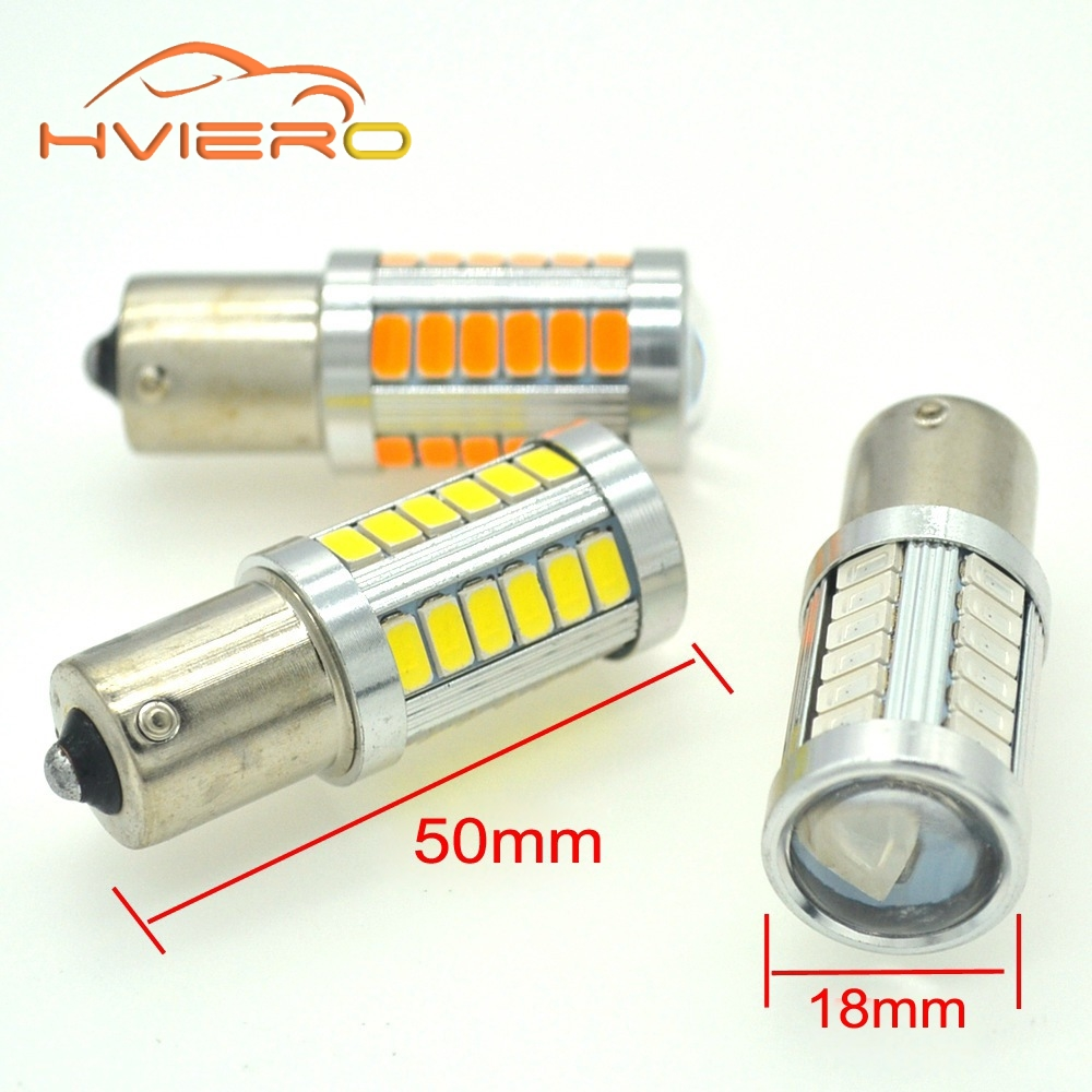 цены 2Pcs 1156 BA15S P21W 5630 5730 33 LED Car Tail Bulb Brake Lights auto Reverse Lamp Daytime Running Light red white yellow DC 12V