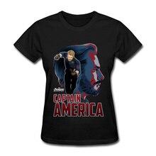 Avengers Falcon T Shirt Captain America Design 100% Cotton O-Neck Women Cool Tops Tees Alliance League T-Shirt Youth Girl
