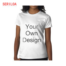 Женская футболка с коротким рукавом на заказ Высококачественная