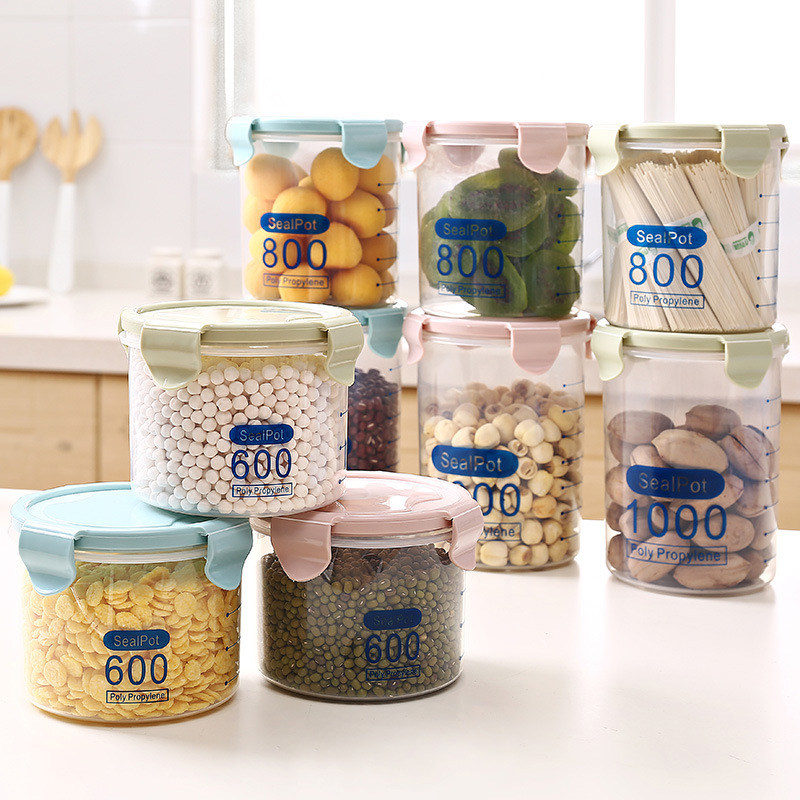 6f5a1edb98bc New High Quality 3 Sizes Grain Storage Case Bean Bin Rice Storage Box  Plastic Kitchen Food