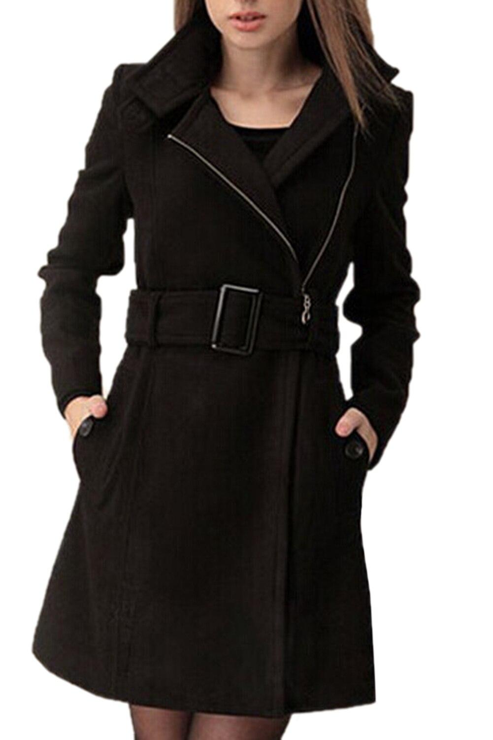 KSFS New Arrival Women long Parka Wool Coat Winter Outerwear Winter Zipper