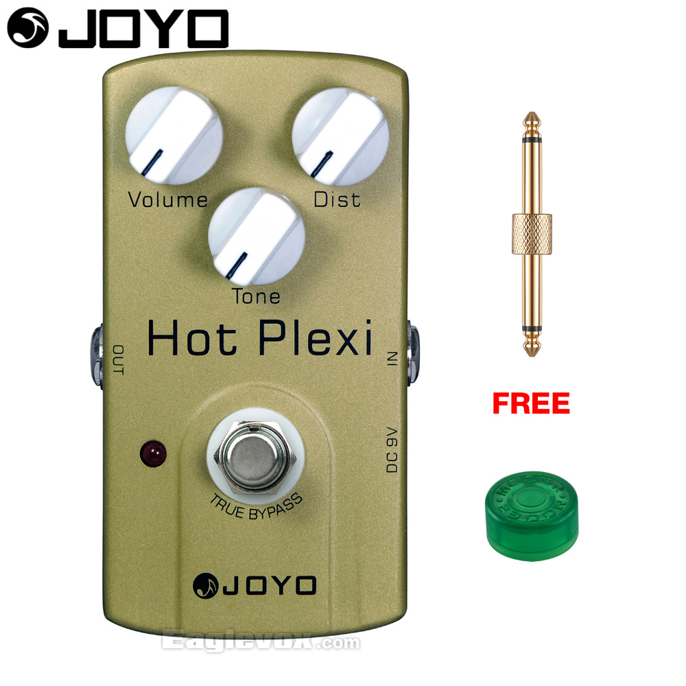 купить JOYO Hot Plexi Drive Electric Guitar Effect Pedal True Bypass JF-32 with Free Connector and Footswitch Topper дешево