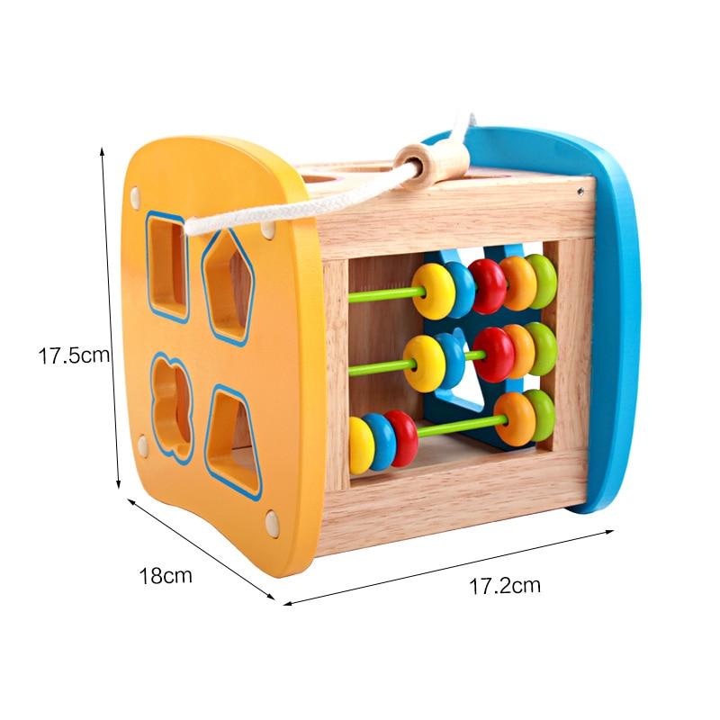 Perle en bois labyrinthe jouets éducatifs pour enfants bébé en bois jouet enfant en bois jouets cadeau d'anniversaire - 4