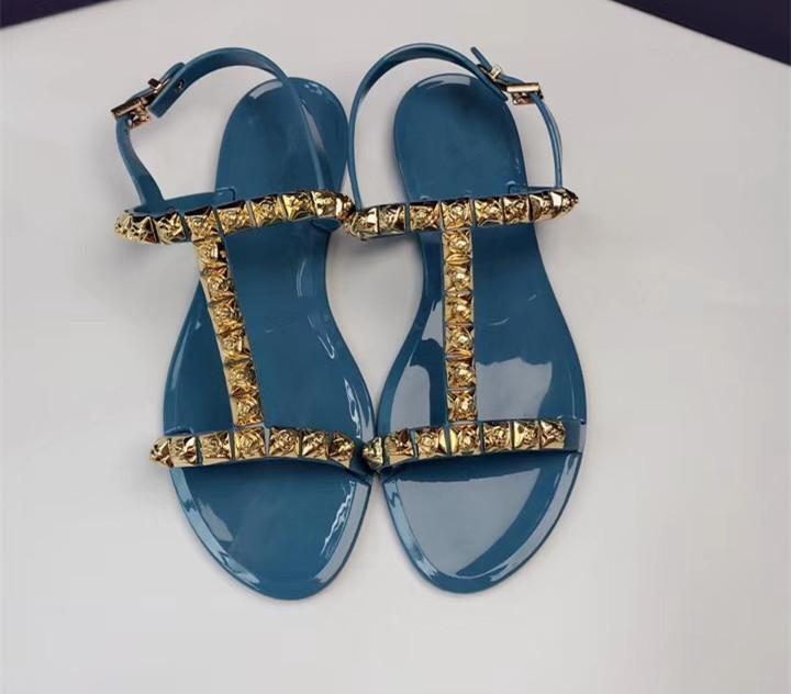 Модные летние босоножки; женские прозрачные сандалии со стразами; шикарная прозрачная обувь с Т образным ремешком; модная женская пляжная о... - 2