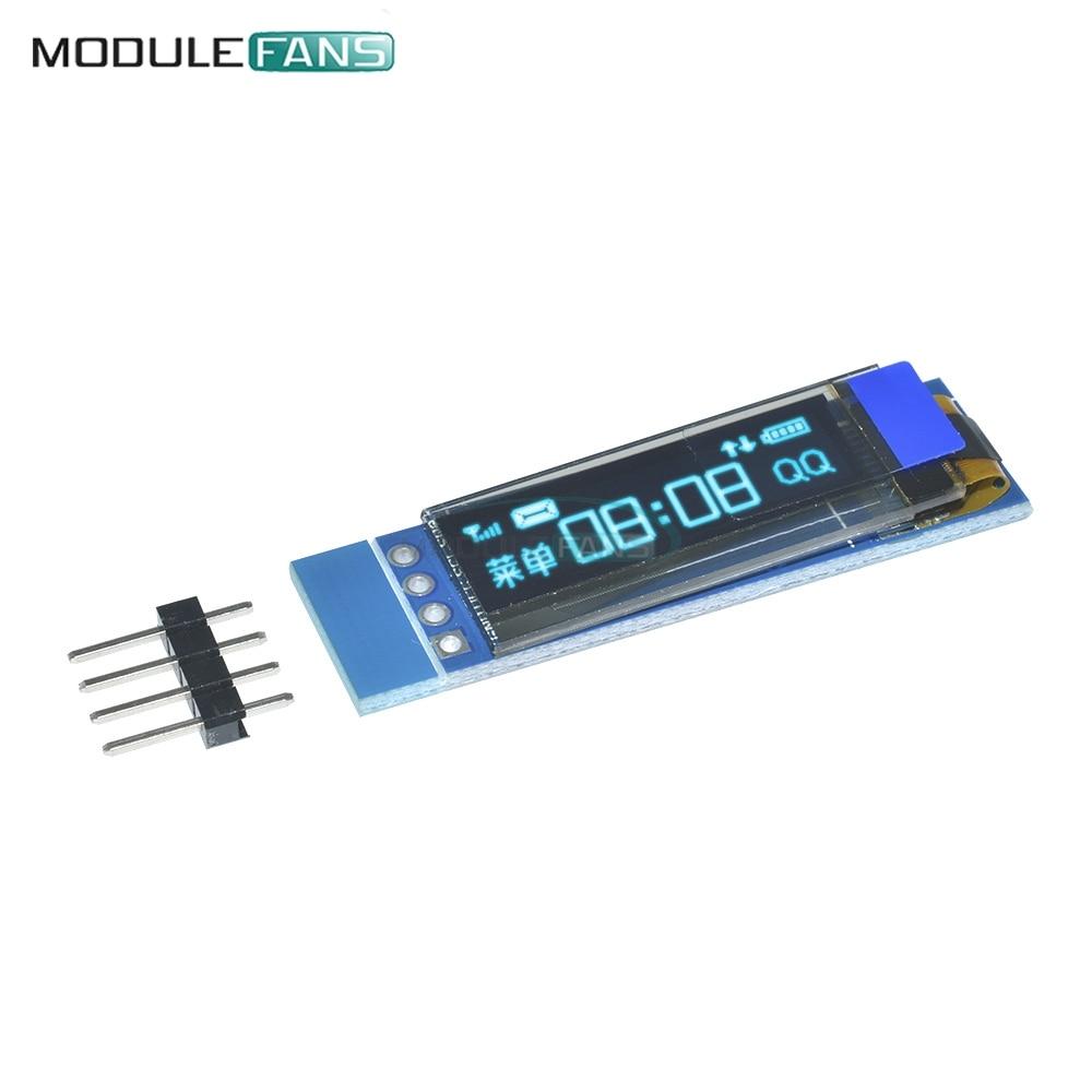 ᑎ‰0 91 inch 128x32 I2C IIC Serial Blue OLED LCD Display Module 0 91