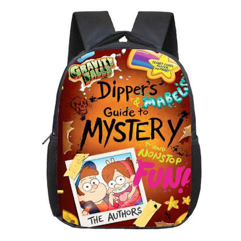 a3d317a6c91f 12 дюймов мультфильм Гравити Фолз рюкзак для подростков мальчиков школьные  сумки рюкзак с изображением мейбел из