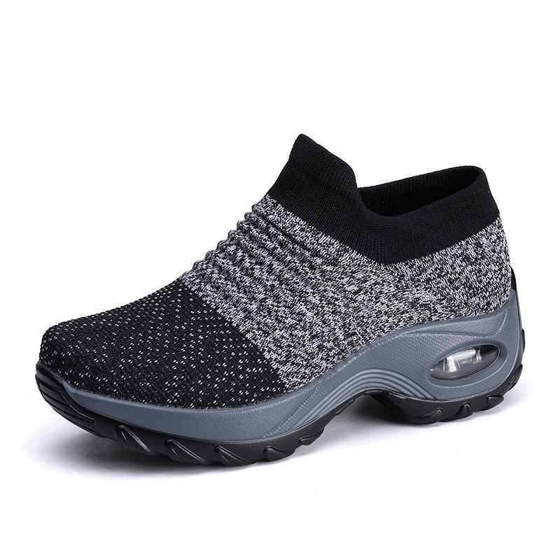 Reetene/Весенняя повседневная женская обувь; женская обувь на плоской подошве из сетчатого материала; женские кроссовки на плоской платформе; женская обувь для тренировок без застежки