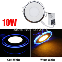 10W AC 85 265V Acrylic LED Recessed Downlight Panel Ceiling Wall Light Cool White Warm White