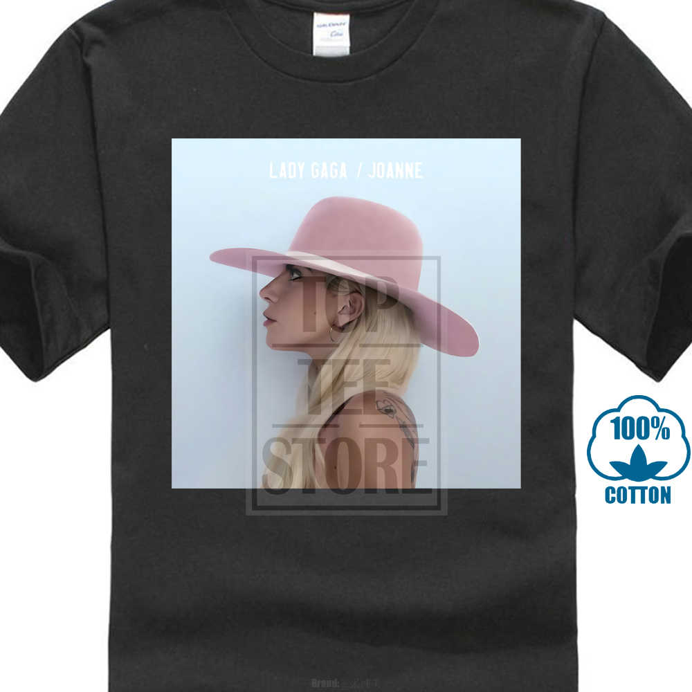 Summer 2018 Plus Size Design Lady Gaga Joanne Album Cover Adult T Shirt Crew Neck Short Sleeve Mens T Shirts