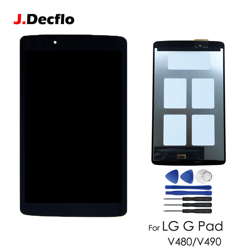 цена на Replacement For LG G Pad 8.0 inch V480 V490 LCD Display Matrix Touch Screen Digitizer Panel Sensor Glass Tablet Assembly Black