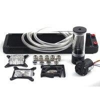 Компьютер водяного охлаждения радиатора OD10mm 360 P Auminum с 110 140 190 240 мм бак для воды sc600B насоса водяного охлаждения комплекты комплект