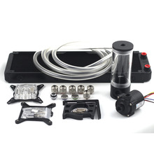 Computer water cooling radiator OD10mm 360p Auminum with 110 140 190 240mm water tank sc600B pump water cooling kits set