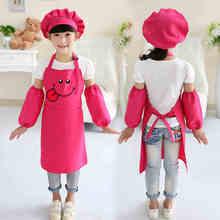 Children eating bib antifouling apron kindergarten boys and girls art painting sleeveless kids clothes