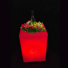 L10.5cm*W10.5cm*H15cm LED Magic Table Lamp Waterproof 16 color Changeable Luminous Light for Coffee Bar Free shipping 1pc