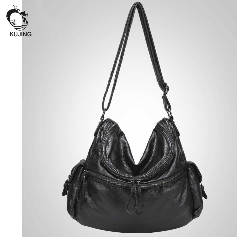 KUJING brand 2017 fashion handbags high quality women shoulder Messenger bag cheap large capacity aristocratic women casual bag