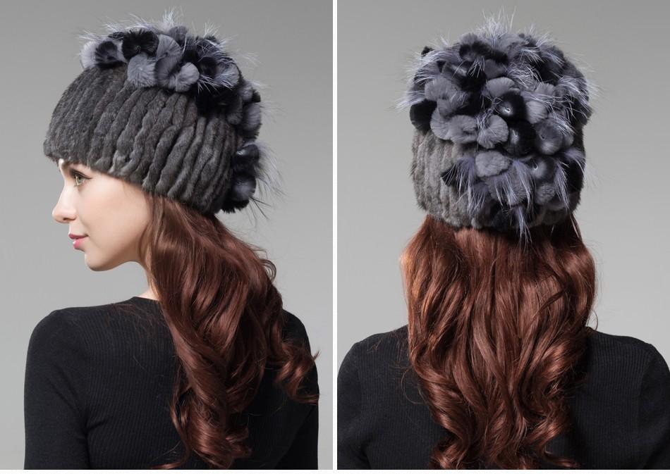 mink fur hats female winter PCM016 (20)