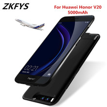 ZKFYS 5000mAh Metal Frame Anti-drop Power Bank Charging Case For Huawei Honor V20 Fast Charger Battery