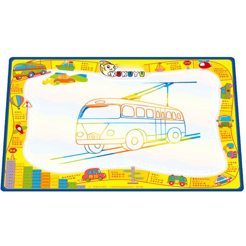 Water Drawing Painting Writing Mat Board Magic Pen Doodle Gift 50cmX35cm Z728