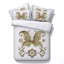 Beautiful butterfly 4/5pcs 3D Bedding Sets modal Comforter Sets Tiwn Full Queen King Size Duvet Cover Bed Sheet Pillowcases