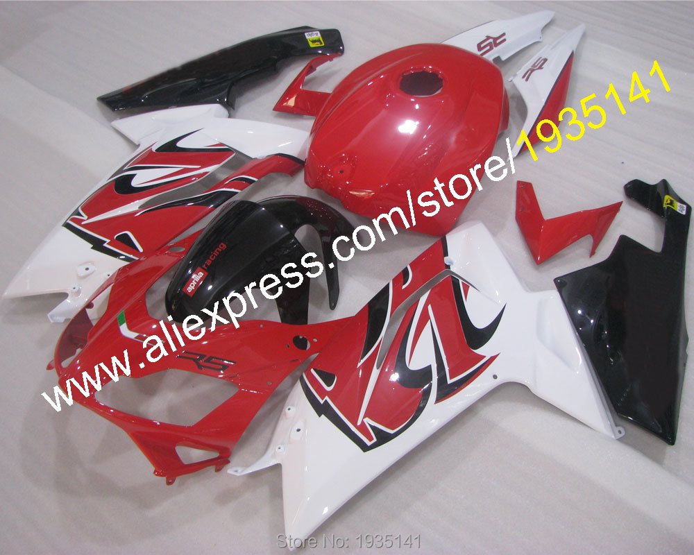 Hot Sales,Body kit For Aprilia RS125 fairing red black white 2007-2011 RS 125 07 08 09 10 11 Motorbike parts (Injection molding)