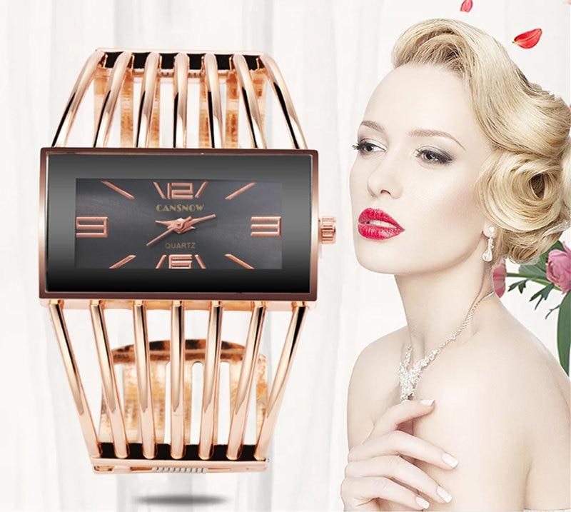 CANSNOW Womens Watch Luxury Fashion Rose Gold Bangle Bracelet Watch Women Dress Clock Female Lady Saati Girls Wristwatch Relojes 4