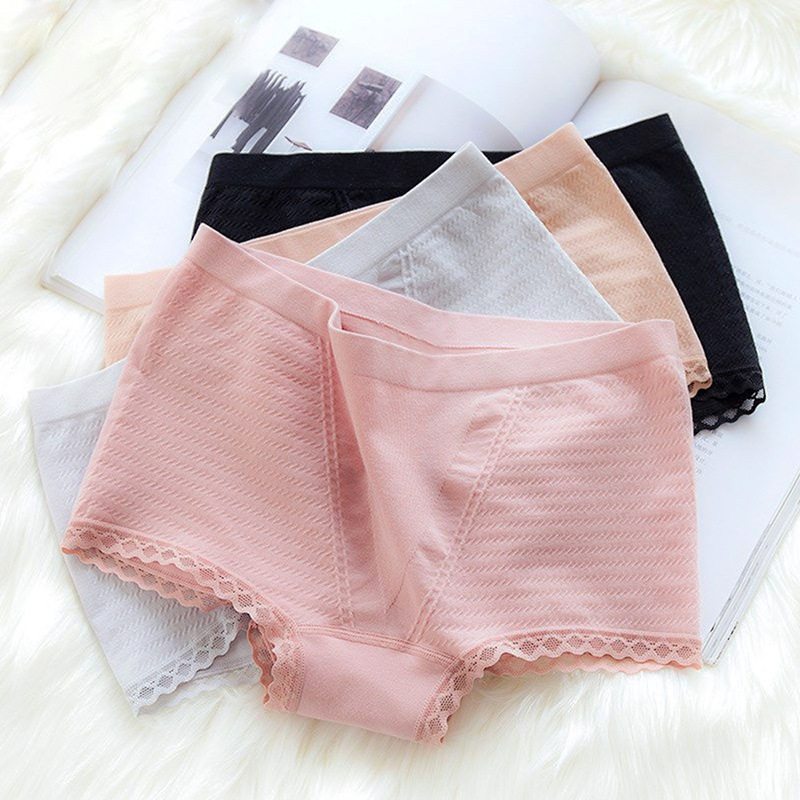 3 Pieces Per Pack Tummy Hip Waist Cotton No Trace Flat Angle Girls  Briefs
