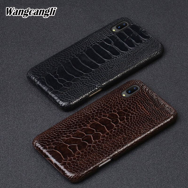 Rare Ostrich foot skin mobile phone case for VIVO X21 luxury Genuine leather mobile phone case Half pack protective caseRare Ostrich foot skin mobile phone case for VIVO X21 luxury Genuine leather mobile phone case Half pack protective case