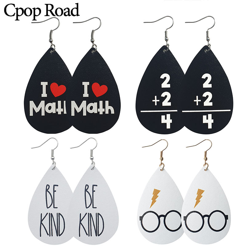 Women Accessories Earrings Glasses Fashion Jewelry Gifts Printing Cute Cpop Diy New