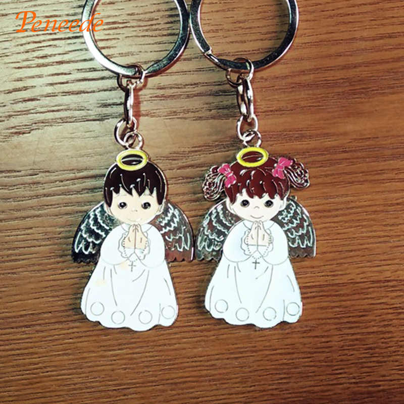 Prayer Angel Keychain For First Holy Communion Girl/Boy Favor/Gift Key Ring Catholic/Christian First Communion Present/Souvenir