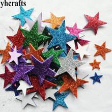 1 пакет/Партия. Блестящая пена Звезда Сердце неправильные наклейки, детские игрушки. Набор для скрапбукинга. Ранние образовательные DIY. Дешево. Детский сад ремесло