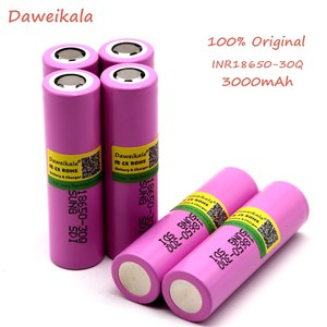 Daweikala original for samsung 18650 battery 3000 mah INR18650 - 30Q 20A li ion rechargeable battery for electronic cigare