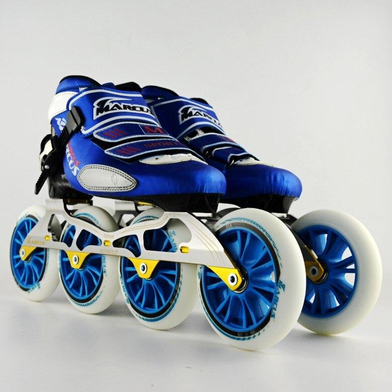 Marcus professional chaussures de patinage de vitesse en fibre de carbone adultes hommes et femmes enfants patinage à roulettes vitesse roller s