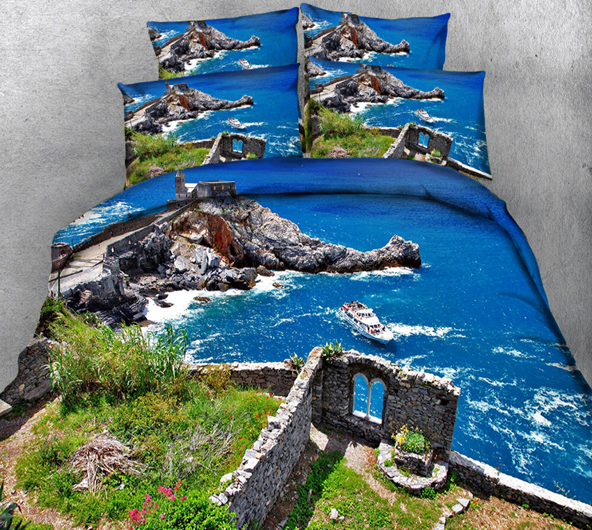 king size bedding set 3D Twin Full Queen bedding set bed sheet Duvet Cover Pillowcase bed cover California king Seaside sceneryking size bedding set 3D Twin Full Queen bedding set bed sheet Duvet Cover Pillowcase bed cover California king Seaside scenery