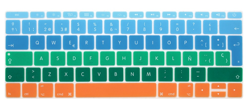 Image 2 - Silicone Keyboard Cover for Macbook 12 inch A1534 and New MacBook Pro 13 inch A1708 A1988, Spanish & English European ISO Layout-in Keyboard Covers from Computer & Office