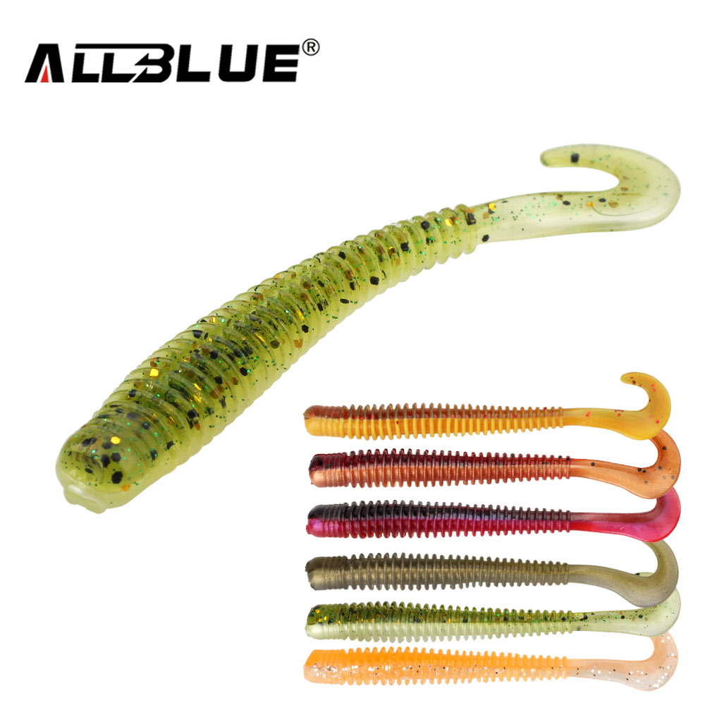 ALLBLUE 8pcs/lot 8cm 2g Silicone Ribbed Body Curly Tail Soft Lure Curltail Grub Artificial Bait for Bass&Perch&Pike Fishing Lure allblue slugger 65sp professional 3d shad fishing lure 65mm 6 5g suspend wobbler minnow 0 5 1 2m bass pike bait fishing tackle