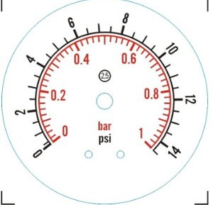 Image 3 - Manometer Bar/psi 1.5 inch (50.5mm) Tri Clamp Diaphragm Pressure Gauge SS304 Stainless Steel Body SS316 Diaphragm