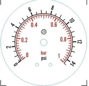 Image 3 - Manometro Bar/psi 1.5 pollici (50.5 millimetri) tri Morsetto di Pressione A Membrana Gauge SS304 Corpo In Acciaio Inox SS316 A Membrana