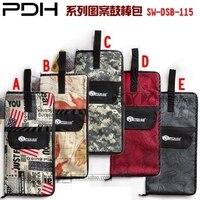 High Quality 5 Colors Creative Gifts Bolsa Baquetas Thicker Drumsticks Bag Portable Club Bag Drum Rack