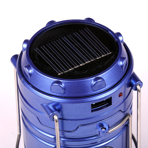 Classic style 6 LEDs Rechargeable Camping Light Collapsible Solar Camping Lantern Tent Lights for Outdoor Camping Hiking Lahore