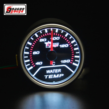 Dragon gauge 52mm pointer car motorcycle Racing Refit Water temperature gauge White backlight 40-150 Centigrade Free shipping