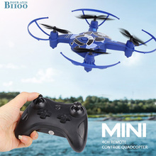 цена на H5W Mini Drones With Camera HD Headless Remote Control Helicopter 2.4G 4CH 4-Axis RC Quadcopter RTF RC Drone Profissional