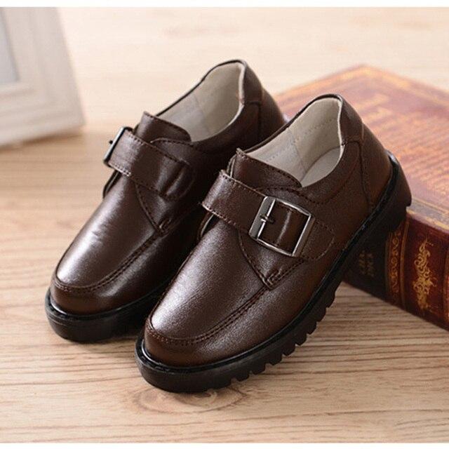 Мода классический причинно мальчиков кожаные ботинки soid обувь из натуральной кожи для 1-3yrs мальчик дети дети партия танец обувь горячие