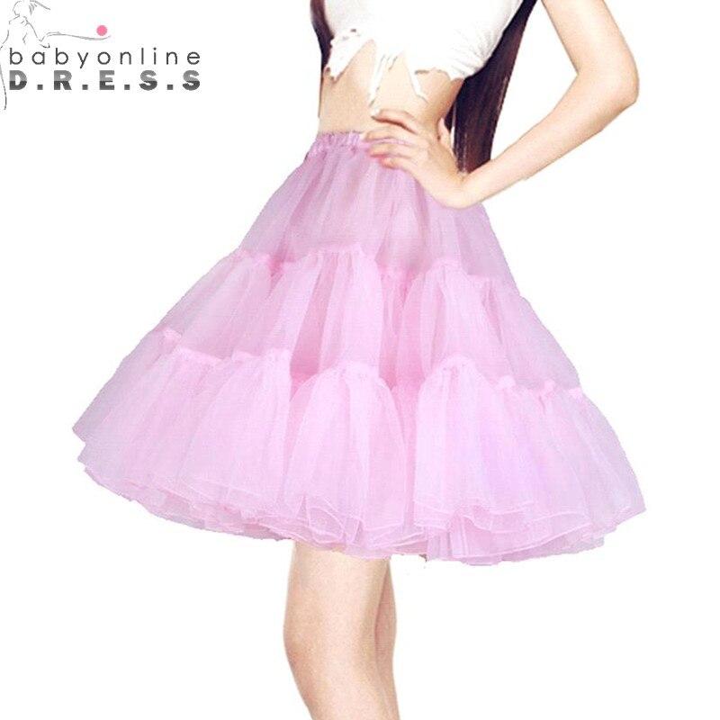 Petticoat Underskirt Tutu-Net Short Wedding-Dress White Black High-Quality Jupon