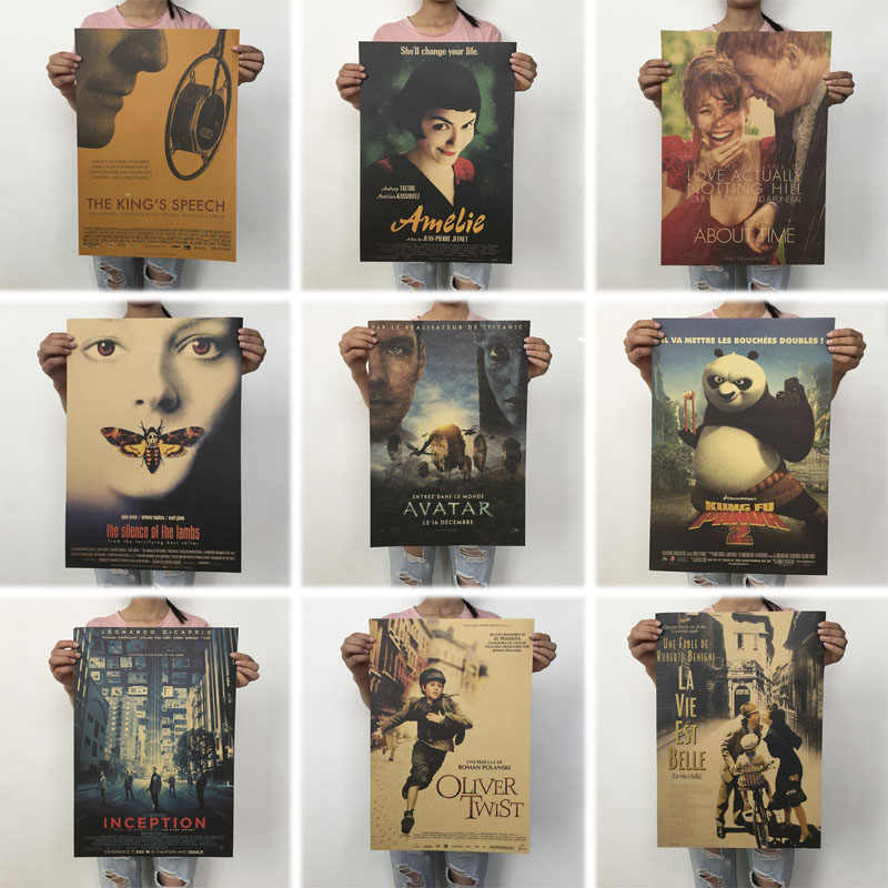 mling 51.5x36cm Vintage Posters Retro Movie Poster Kraft Paper Posters Classic Poster Bar Home Decoration Painting Wall Sticker