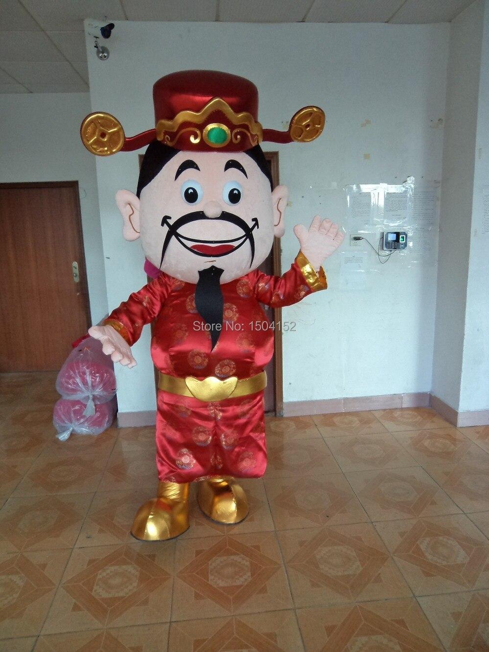 Mb141007 bonne année costume de mascotte le dieu de la fortune livraison gratuite