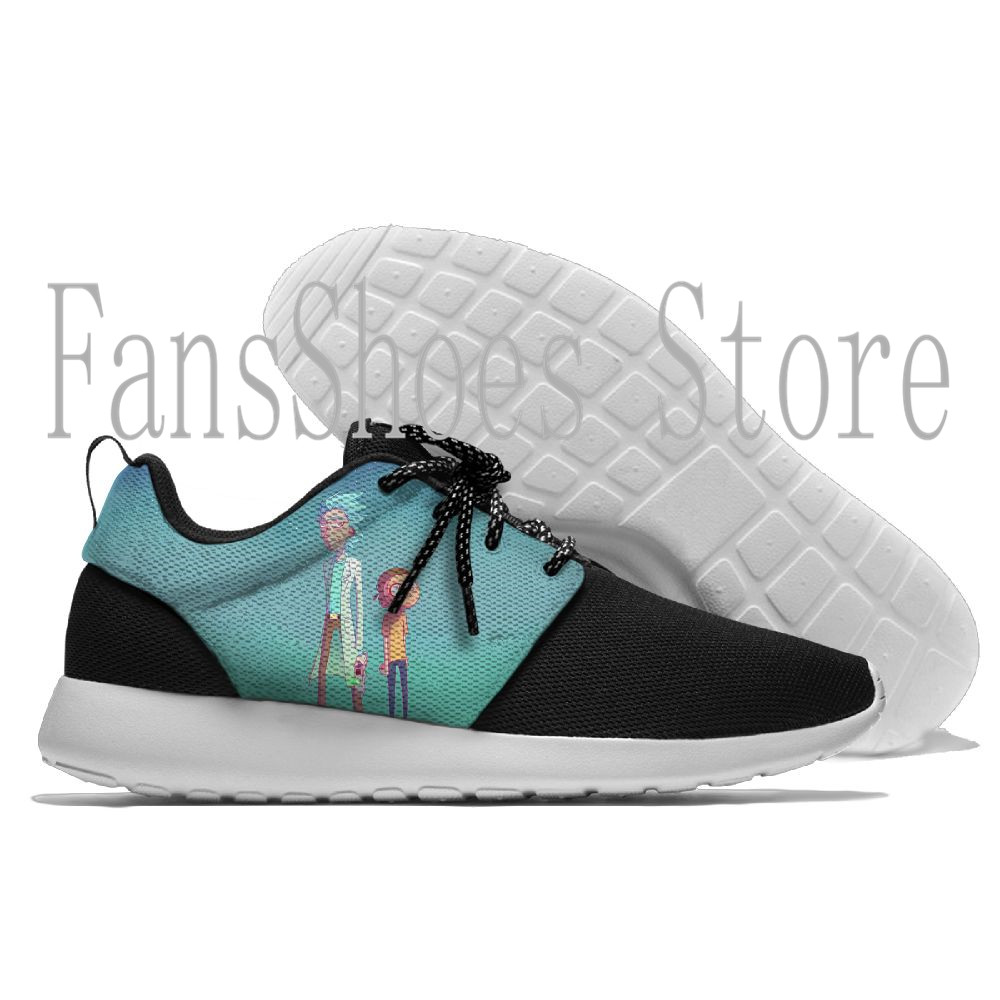 Rick And Morty Anime eva Running Shoes low Sport Shoes Outdoor Walking Shoes Men Sneakers Comfortable Women Sport Running Shoes
