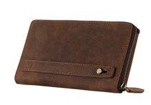 8036-2B J.M.D Men's Vintage style Cowhide Purse Clutch Bag Wallet